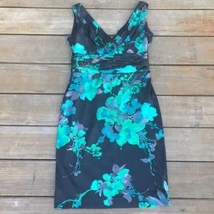 Evan-Picone Dress Petite 4P Floral Sleeveless